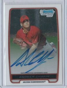 2012 1ST BOWMAN CHROME CARD CERTIFIED AUTOGRAPH ON CARD ANDREW CHAFIN #BCA-ACH