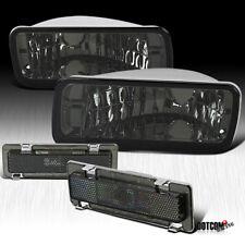 For 85 92 Chevy Camaro Firebird Smoke Bumper Signal Lightsside Marker Lamps 4pc
