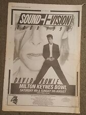 David Bowie Sound & Vision 1990  press advert Full page 27 x 38 cm mini poster