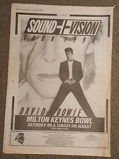 David Bowie Sound & Vision 1990 Presseanzeige komplette page 30 x 42 cm