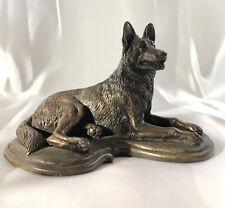 Tony Acevedo Cold Cast Bronze German Shepherd Figurine