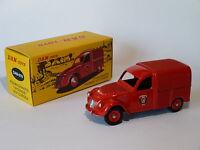 citroën 2 cv fourgonnette incendie / pompiers DAN-019 au 1/43 de dinky dan toys
