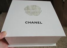 "7 Chanel Signature Gift Boxes Empty Hard Sided Black White Camellia 8""x8.5""x3.5"""