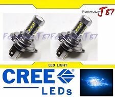 CREE LED 80W 9003 HB2 H4 BLUE 10000K TWO BULB HEAD LIGHT REPLACEM PLUG PLAY JDM