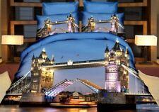 3 tlg.3D Effekt Bettwäsche Bettbezug Bettgarnitur 155x200cm London Bridge