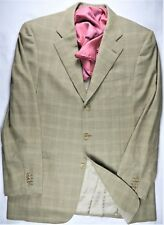 Ermenegildo Zegna High Performance Mens Blazer Jacket Coat Gold 40 L Plaid Ital