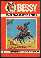 Bessy Sammelband Nr.2 von 1967 mit Bessy Erstauflage Nr.10-12 - BASTEI COMIC