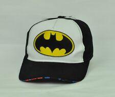DC Comics Batman Mens Hat Cap Adjustable Black Yellow Snapback Curved Bill