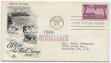 1952 C46 80 cent Diamond Head airmail registered first day cover  [1666]