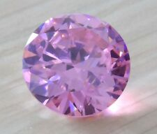 11.12ct AAA Natural Pale Pink Zircon Gem Round Faceted Cut 12mm VVS Loose Gems
