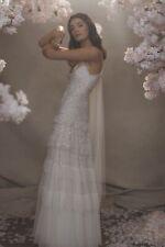 BNWT Needle & Thread Ivory Gracie Cami wedding dress UK14 long pink embroidery