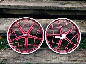 Mongoose MOTOMAG II - Candy RED wheel set - Bendix - old school bmx