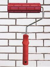 """7"""" Embossed Painting Roller Brush with Plastic Handle for Wall Decoration"""