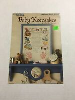 """""""BABY KEEPSAKES"""" Leisure Arts Counted Cross Stitch Leaflet #540 - 3 Patterns"""