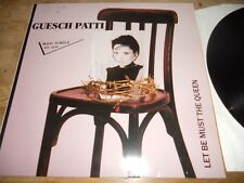"GUESCH PATTI ""LET BE MUST THE QUEEN/TOUT SEUL"" 1988 EMI RECORDS WEST GERMANY OOP"
