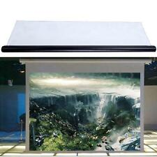 "100"" 16:9 Motorized Remote Projector Screen Cinema Home HD TV DVD Matt White"