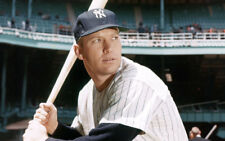 MICKEY MANTLE Blank Postcard 8.5 X 5.5 NM-MT New York Yankees Hall of Fame