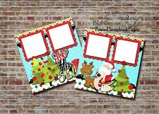 Christmas Santa's List Rudolph 2 PRINTED Premade Scrapbook Pages BLJgraves 96