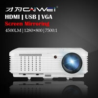 CAIWEI A7(W) LCD Heimkino Beamer Bildschirm Spiegelung Projektor HDMI USB 1080p