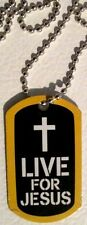 "JESUS STRONG ""Live For Jesus"" Dog Tag Christian FREE SHIP U.S. 1st Class - NEW"