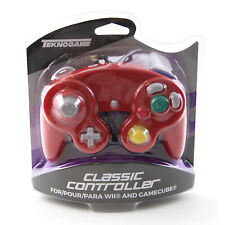 Nintendo Wii RED Rumble Controller Pad (Teknogame) New Gamecube Wired Gamepad