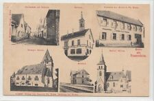 6262- Gruß aus Framersheim mit Gasthaus Kratz Bahnhof Landkreis Alzey-Worms