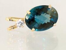 London Blue Topaz, 14KY Gold Pendant, P018