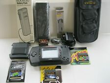 Atari Lynx Ii w/4 game, New Pouch, New Battery Pack, Comlynx Cable, Ac, Sunshade