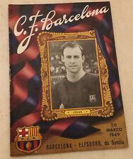 1949 amichevole BARCELLONA V ELFSBORG