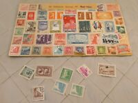 Chinese Stamps 1949 1950 1960s Mao Flag Original Used Lot of 50+