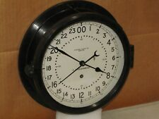"""CHELSEA SHIPS/MILITARY CLOCK~AIR FORCE~8 1/2"""" DIAL~MISSILE SILO?~1984~24 HR DIAL"""