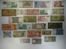 Assortment of 25 Various Foreign Banknotes Paper Money Lots World Currency