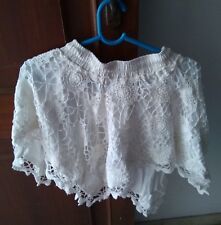 """Ladies Skirts Handmade in Crochet  in White size 15"""" lenght"""