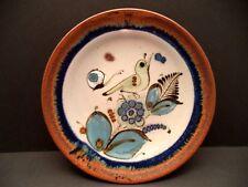 "Tonala Mexico pottery 8"" wall plate bird butterfly Ken Edwards el Palomar"