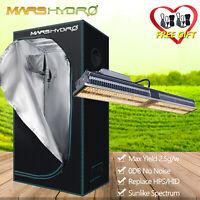 Mars Hydro SP150 LED Grow Lights Full Spectrum Kits +2x2 Grow Tent Indoor Plants