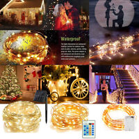 22M 200LED Battery/Solar Copper Wire Fairy String Light Christmas Xmas Party Hot