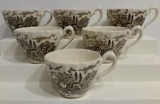 Myott Staffordshire - Royal Mail Brown - Cup - Ironstone - England Set of 6