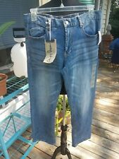 NWT Mens Chip + Pepper Distressed Blue Jeans Size 32 x 30 Tuck Relaxed Straight