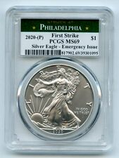 2020 (P) $1 American Silver Eagle 1oz Emergency Issue PCGS MS69 First Strike
