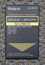 Biblioteca de sonido de percusión Roland SN-R8-01 contemporáneo datos ROM tarjeta R-8/R-8M