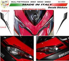 """Adesivi per cupolino  Moto Ducati Multistrada 950/1200/1260 """"V654"""""""