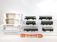 CF786-1# 6x Märklin H0/AC Wagen NEM KK: 4303/42352 Post+4301 DB+SEG+4200 2. Wahl