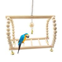 Wooden Ladder Swing Bridge Shelf Pet Playground Toys For Parrot Bird Rat Hamster