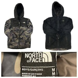The North Face Boy's Camo Full Zip Reversible Hooded Jacket Size Medium