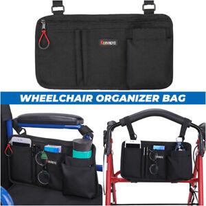 Wheelchair Side Bag Armrest Pouch Organizer Bag Phone Pocket Holder Walker