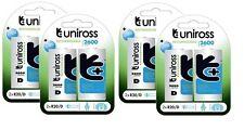 8 X D Uniross 2600 serie pilas recargables R20
