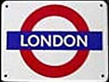 """"""" London """" London Underground Rondell Klein Emaille Schild (Ba)"""