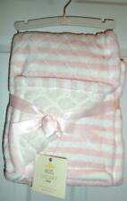 New listing Lullaby Girl's Pink Striped Baby Blanket 30 x 40 New