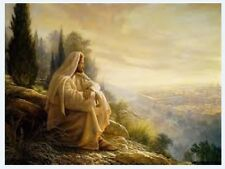 Handcraft Portrait Oil Painting on Canvas,Jesus Christ  24X36Inch /Unframed