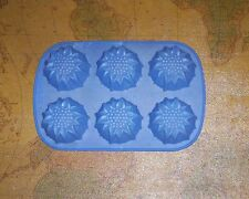 6-Cavity Rose Shape Silicone Mold Cupcake, Bread, Muffin, Pudding, Pan Bakeware
